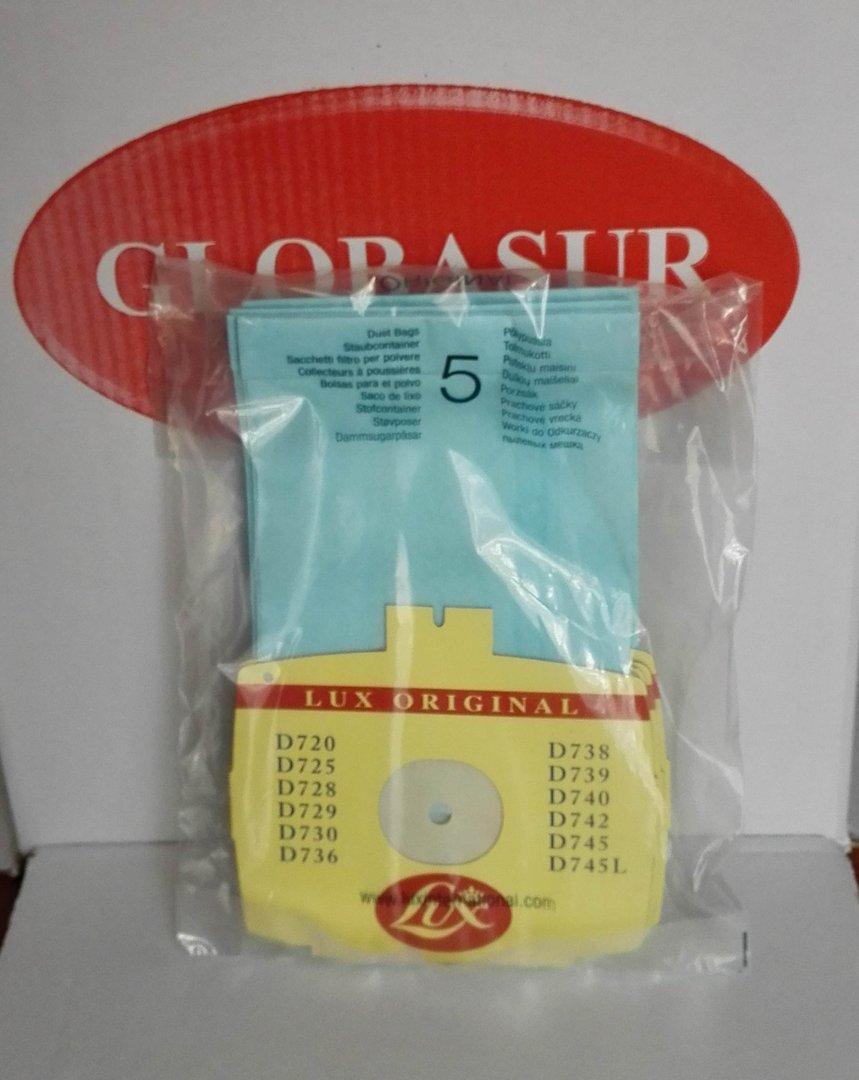 Bolsas aspirador Electrolux D740 Electrolux 481281729643 Bolsas 5 uds. Z355